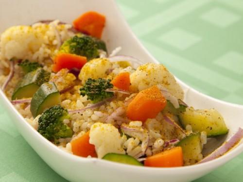 ricetta, ricette, cucina, ricetta con foto,piatto unico,primo piatto,riso,primo piatto riso,verdure,riso e verdure,cavolfiori,zucchine,carote,curry,